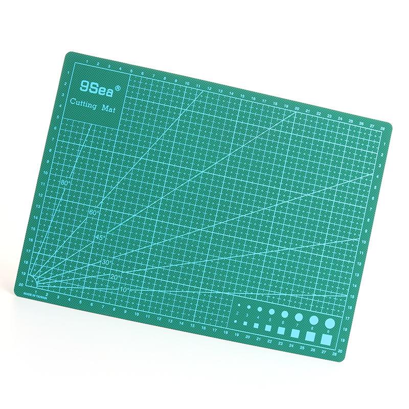 все цены на PVC Rectangle Cutting Mat A4 Durable Selfhealing Cut Pad Patchwork Tools Handmade DIY Accessory Cutting Plate Dark Green 30*22cm онлайн