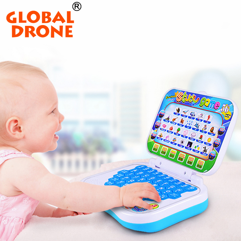 Global Drone Mini PC Laptop Learning Machine Chinese Change English Language Computer for 2 Years Old Kids to Aprender Ingles ...