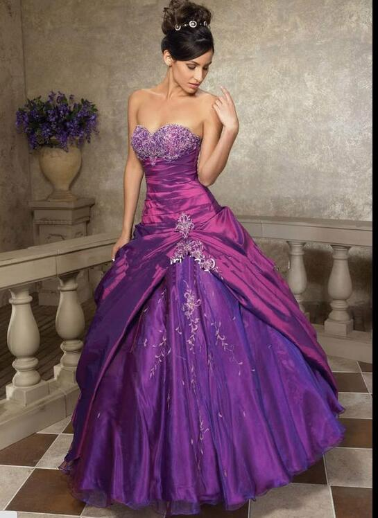 38c2dd07cb141 US $57.12 16% OFF|ANGELSBRIDEP Sweet 16 Ball Gowns Quinceanera Dresses  Sweetheart Floor Length Purple Vestido Debutante 2019 Special Ocasion-in ...
