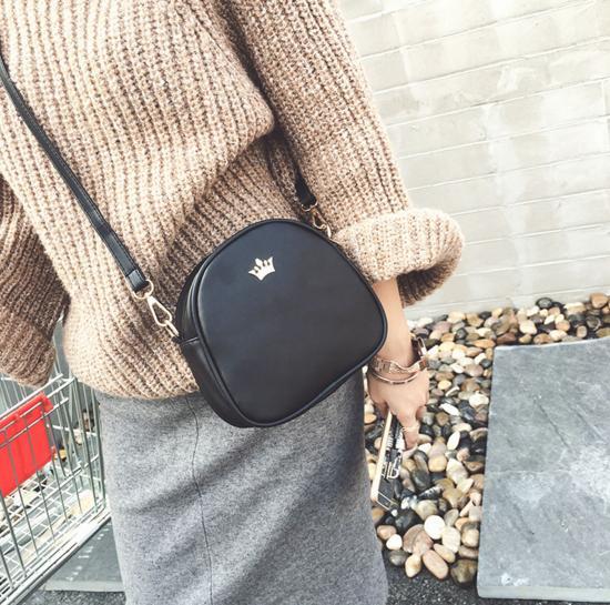 mulheres de couro bolsa de Tipo : Shoulder & Crossbody Bags