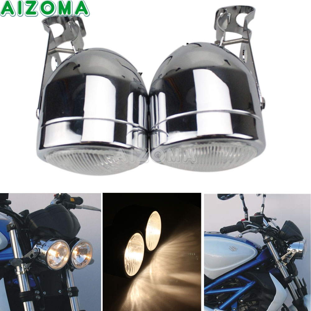 HONDA CB900 REPLACEMENT HEADLIGHT MOTORCYCLE CHROMED METAL HEADLAMP
