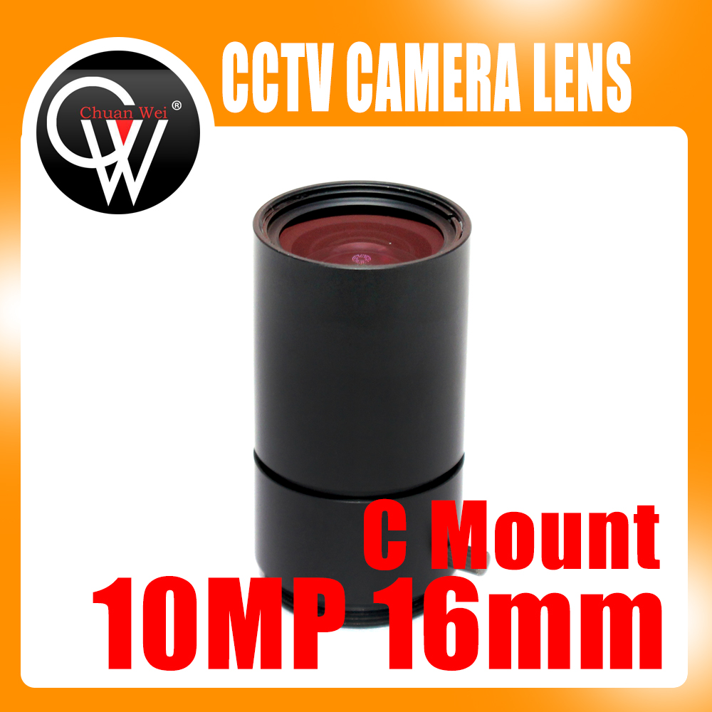 10MP 16mm lens HD Industrial Camera Fixed Manual IRIS Focus Zoom Lens C Mount CCTV Lens for CCTV Camera or Industrial Microscope 8mm 12mm 16mm cctv ir cs metal lens for cctv video cameras support cs mount 1 3 format f1 2 fixed iris manual focus