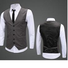 Men Vests New fashion Style Slim New custom Hot Sale Men's waistcoat Casual Fitness For Man Suit Vest high quality