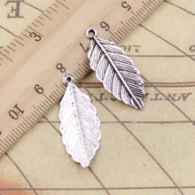 Charms leaf 10pcs 31*12mm Tibetan Silver Plated Pendants Antique Jewelry Making DIY Handmade Craft