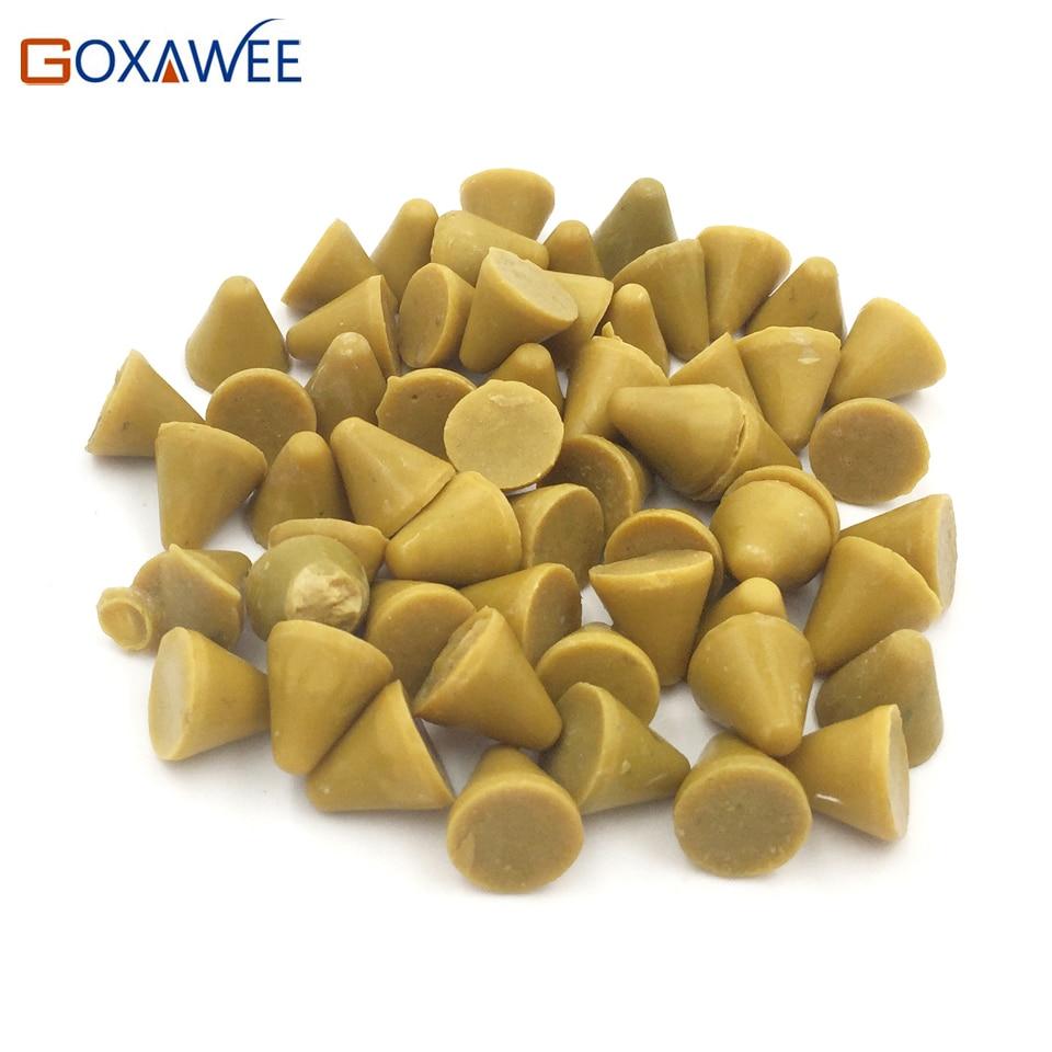 цена на GOXAWEE Abrasive Tools 1kg Polishing Media For Vibratory Tumbler Jewelry Polishing Tools Vibratory Tumbler Accessories 10x10mm