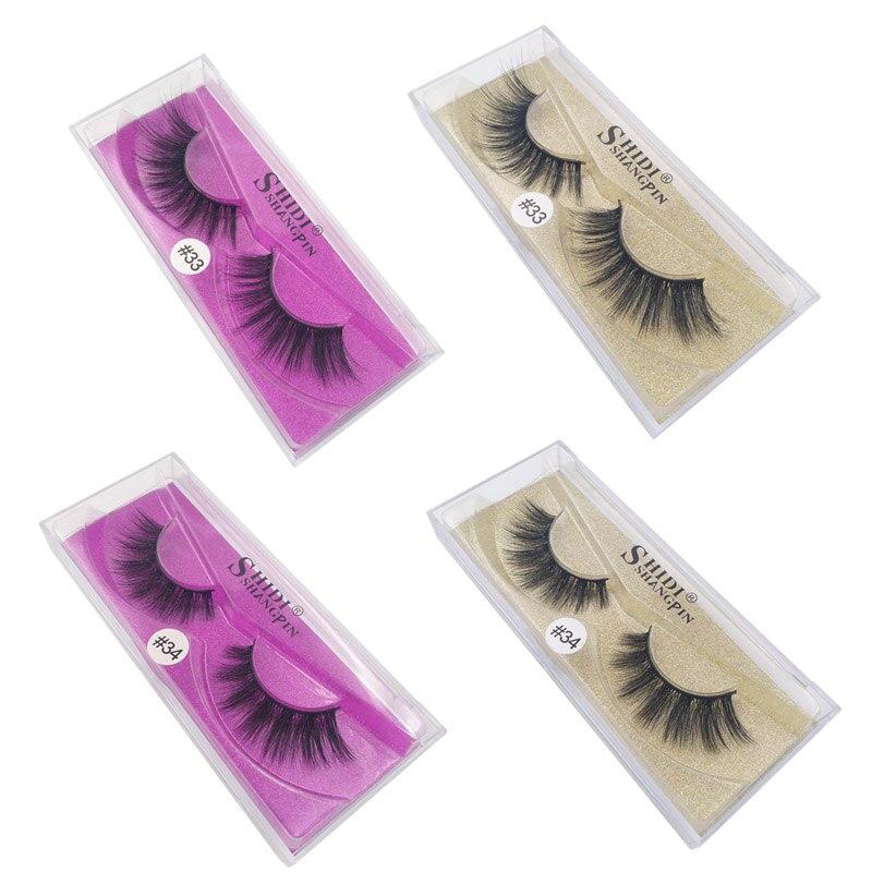 04454a8381d SHIDISHANGPIN 1 Pair mink eyelashes natural long 3d eyelashes 3d mink lashes  hand made makeup false lashes 1 box Faux Cils #3334