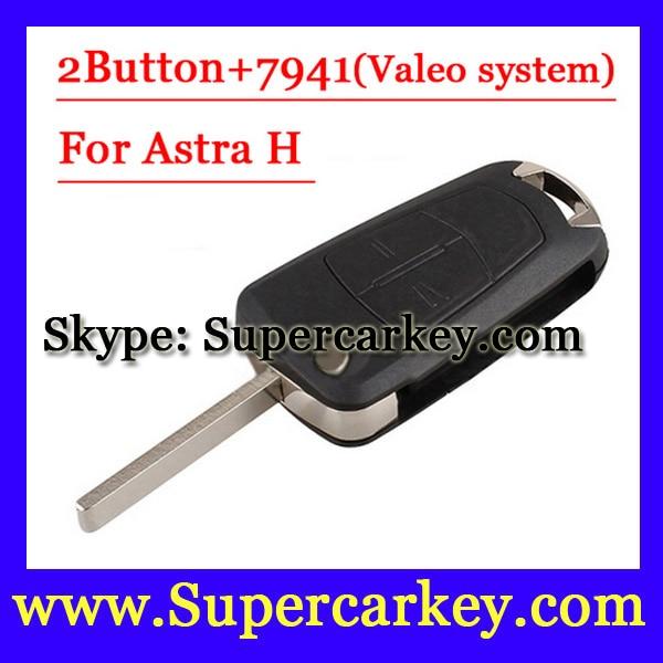 imágenes para Envío Gratis (1 unids) 2 Botón Flip Clave Remota con PCF7941 Para Vauxhall Opel Astra 2008 2009