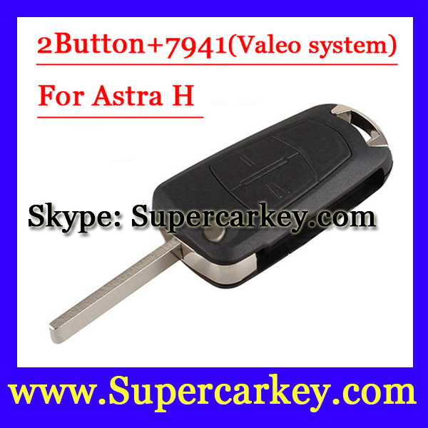 Free Shipping 1pcs 2 Button Flip Remote Key with PCF7941 For Vauxhall Opel Astra 2008 2009