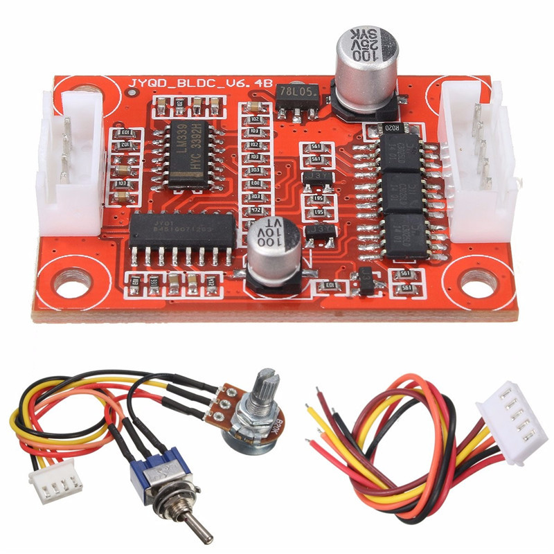 DC 7.5V-18V 30W Brushless Motor Driver Controller Board DIY Kit for Hard Drive Motor/Pump Over-current Hot Sale