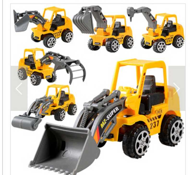 Kids Toy Mini Engineering Vehicle Car Truck Excavator Model Toys Boy Gifts (Color: Yellow) IFA 95AE