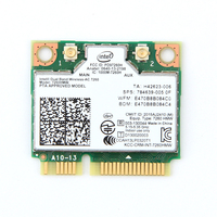 Dual Band Wireless 7260HMW Mini PCI E Wi Fi Card For Intel 7260 867Mbps 802.11ac 2.4G/5Ghz Bluetooth 4.0 For Laptop