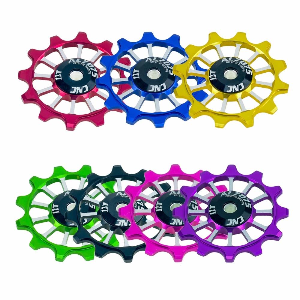 12T Bicycle Aluminum Rear Derailleur Pulley Ceramic Bearing Jockey Wheel *DC