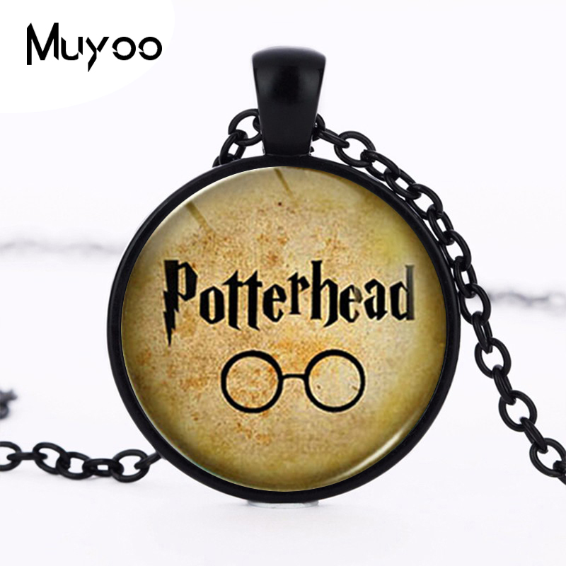 Steampunk Movie Glasses Pendant Necklace dr doctor who 1pcs/lot chain mens women friend gift charming necklaces 2017 potter HZ1 image
