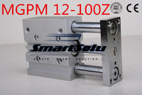 Free Shipping MGPM12 100Z bore 12mm stroke 100mm double acting pneumatic cylinder compact guide new type three rod air cylinders