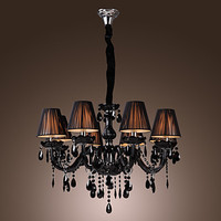 AC110V 220V Chandeliers Black LED Modern Crystal Chandelier With 8 Lights Lustres De Crystal Lustre De