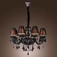 AC110V-220V candelabro De cristal moderno LED negro con 8 luces  Lustres De cristal  Lustre De cristal envío gratis