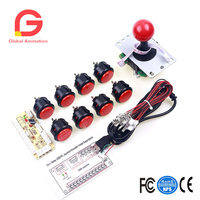 Arcade Machine Sanwa Push Button To PC Joystick + Encoder To Coin Operated Games