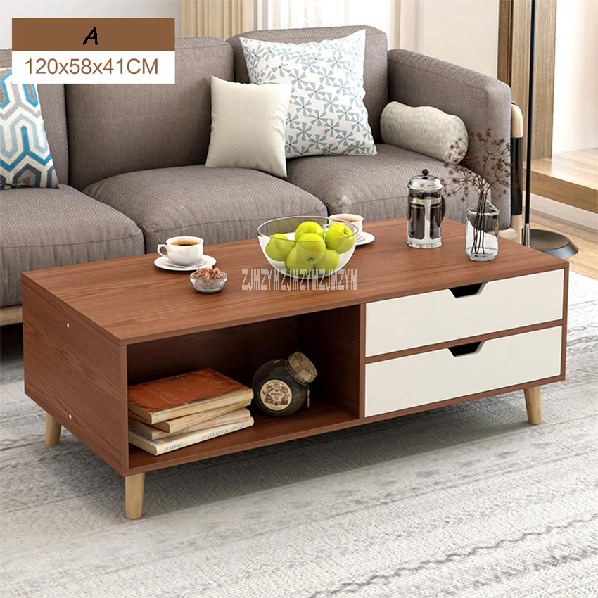 H30 Large Capacity Simple Modern Tea Table Multi-Functional Living Room Teapoy Side Table Rectangular End Table With 2-DrawerH30 Large Capacity Simple Modern Tea Table Multi-Functional Living Room Teapoy Side Table Rectangular End Table With 2-Drawer
