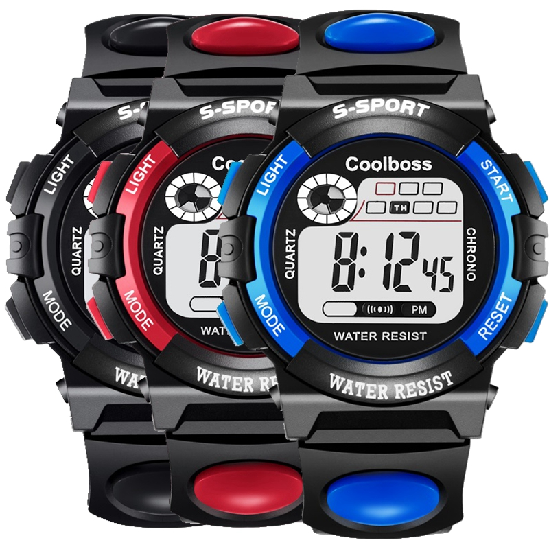 Synoke Kids Watch Students Watch Sport Multi-function 50m Waterproof Watch Clock Led Girl Digital Double Action Watch Soft And Light Watches Men's Watches
