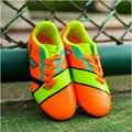 Sapatos menino 2017 Nova Qualidade Superior Ao Ar Livre Treinamento Caçoa As Sapatilhas China Menino Meninas Superflys Esporte AG Prego Sapatos Crianças De Futebol