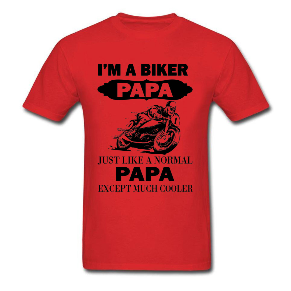 HTB1Dx4xuH1YBuNjSszhq6AUsFXaf - Biker Papa Cooler Father T-shirt Summer Grey Tops Men T Shirt Funny Design Clothing Father's Day Gift Tshirt Moto Lover
