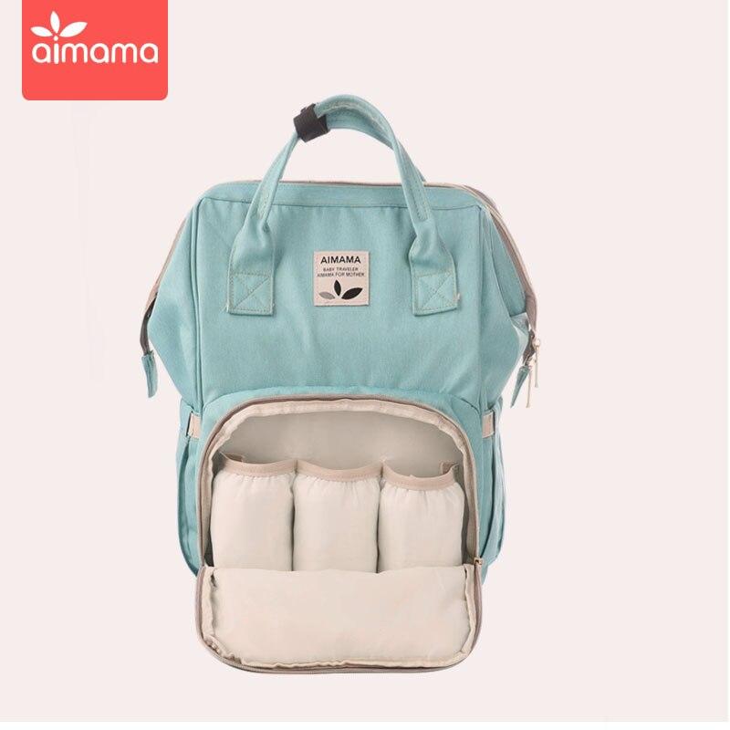 Gran capacidad de moda momia bolsa de pañales de maternidad mochila de viaje de bebé diseñador bolsa de lactancia impermeable para el cuidado del bebé bolsa de pañales - 2