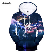3D Alan Olav Walker Sweatshirts Men /Women Hoodies 3D Print Autumn Winter Thin Cotton Hooded Hoody With Cat Fashion Tops clothes(China)