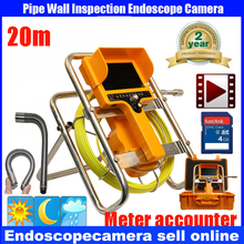 20M Pipe Drain Sewer Inspection Camera System 512Hz Transmitter Pipe Locator 90 degree Recording Camera meter counter DVR Camera
