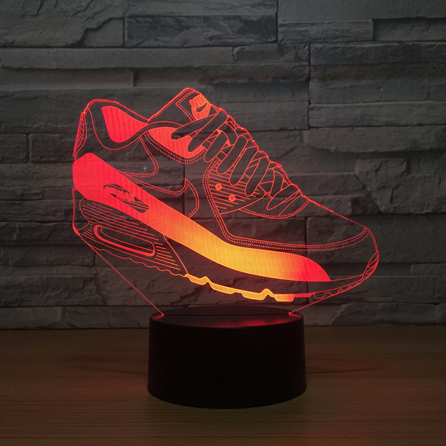 US $11 9 39% OFF|Shoes Creative 3d Acrylic Lamp Led Colorful Usb Touch  Night Light Christmas decorations gift for baby room lights-in LED Night  Lights