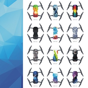 Image 2 - Skin Multi color Waterproof Stickers Decals PVC Cover Protector for DJI Mavic Air Drone Body Spare Parts Accessory