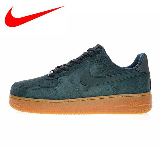 Nike Air Force 1 Sneakers Original Nike Air Force 1 AF1 Men's Skateboarding Shoes , Green, Non-Slip  Shock Absorption Wear Resistant Balance AA1117 300