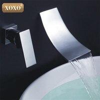 XOXO Bathroom Small Waterfall Wall Mounted Faucet Bathroom Polished Chrome Mixer Tap Bathroom tap 83017