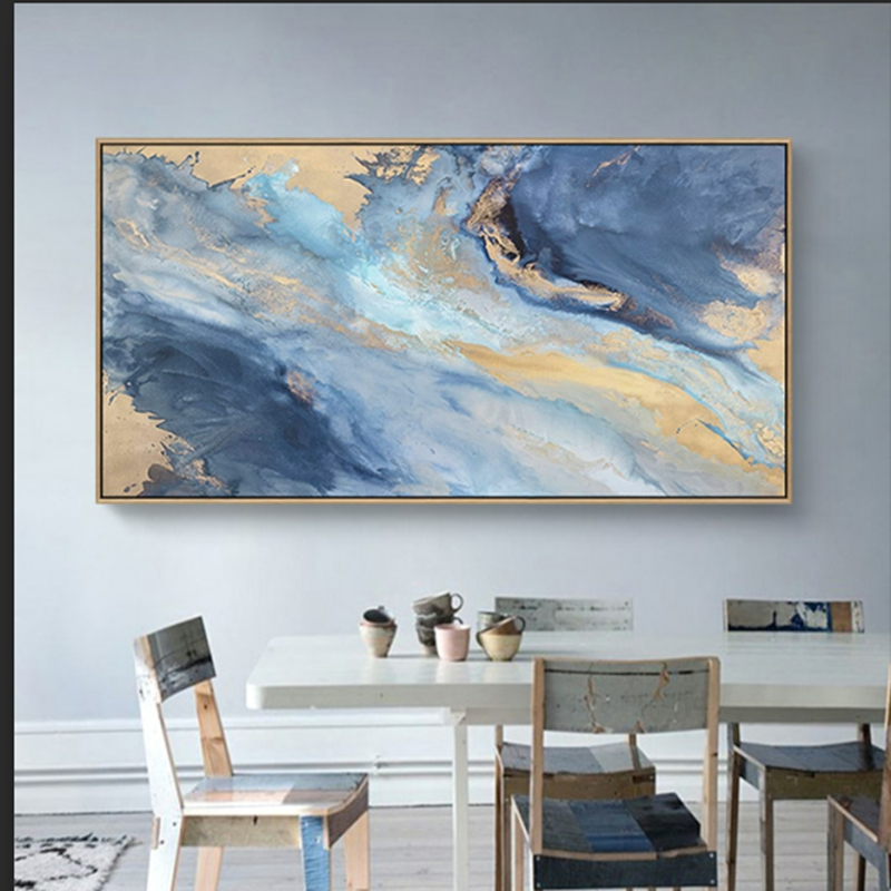 Artist Painted Knife White Flower Painting Living Room Wall Decor Hand Painted Wall Pictures on Canvas Big Size No Framed