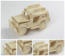 3D Wood Puzzles Children Adults Vehicle Puzzles Wooden Toys Learning Education Environmental Assemble Toy Educational Games