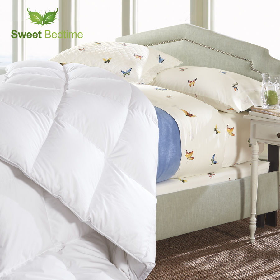 Hotel summer quilt microfiber thin throw quilts 233 TC Synthetic Fill Imitated down Comforter 100 cotton twin king queen blanket