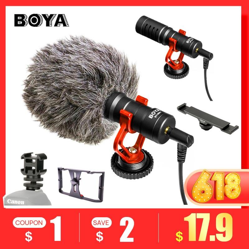BOYA BY-MM1 Wireless Microphone Camera Video Microfone Stand for iPhone X DJI Osmo Pocket Zhiyun Smooth 4 PK BM Rode VideoMicro Кубок