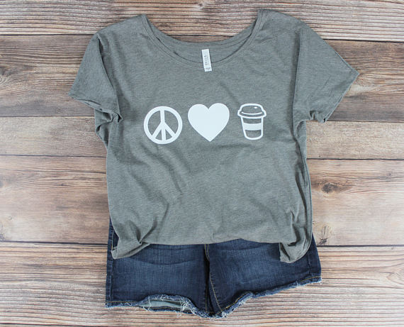 3d9d74b8 OKOUFEN But First heart Coffee tShirt Mom Life Women Graphic Tee fashion  unisex funny cute tops high quality tumblr crewneck tee