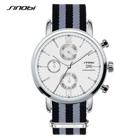 SINOBI Men S Sports Watches Fashionable Analog Casual Watch Wristwatches With Calendar Function Black Red Color