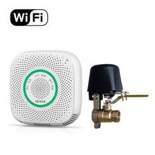 все цены на CE RoHS Fire Alarm Natural/LPG Gas Detector Smart Phone Control Home Use WiFi Combustible Gas Leakage Sensor with Manipulator онлайн