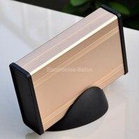 Aluminum Project Box Enclousure Case With Base Gold 3 78 X 1 3 X 5 51
