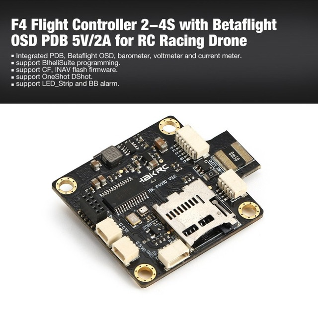 US $27 79 24% OFF|F4 Flight Controller 2 4S with Betaflight OSD PDB 5V/2A  BEC PPM/SBUS/IBUS OneShot for RC Racing Drone Quadcopter ht-in Parts &