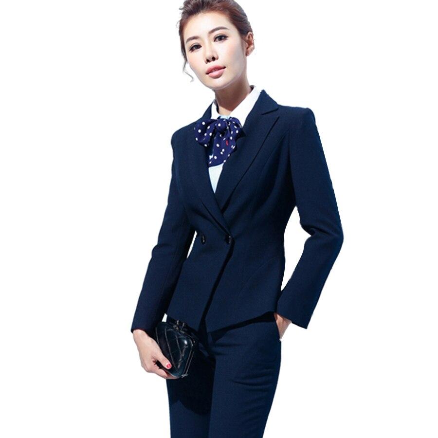 Корейский элегантный костюм пиджак Для женщин комплект офис плюс Размеры Для женщин S Брючные костюмы для женщин комплект 2 шт. одежда работ
