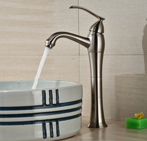 Free Shipping! New Nickel Brushed Vessel Basin Faucet Waterfall Spout 1Handle sitemap 82 xml