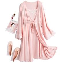 цена на Sleepwear Summer Pregnant Women Modal Sleeping Skirt Fashionable Dress Breastfeeding Elegant Modal Postpartum Nursing Clothes