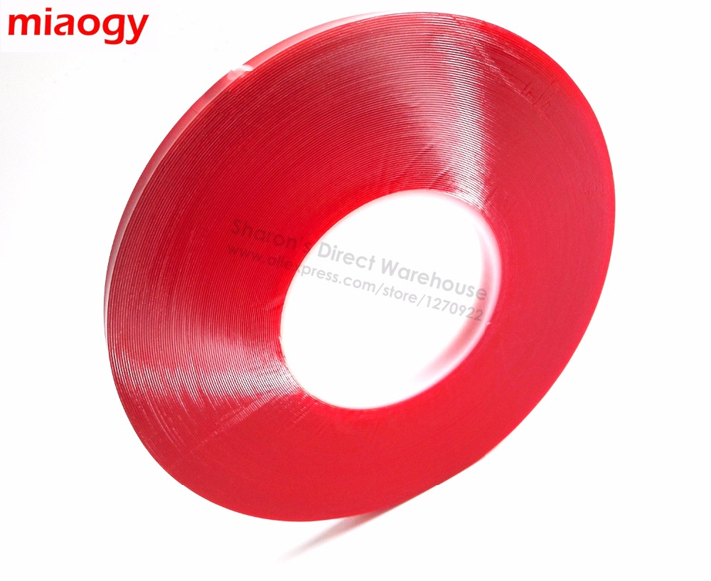 0.5mm Thick, (4mm x 33Meters) VHB Double Sided Acrylic Foam Tape for Glass Car Panel Seal, Clear 1 0mm thick 4mm 100mm width choose clear double sided adhesive acrylic foam tape for glass panel edge trim seal 3meter roll