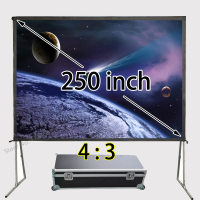 Good Quality Aluminum Frame Fast Folding Screen 200x150inch View Size 4:3 Front And Rear Projection Sreens Support 1080p