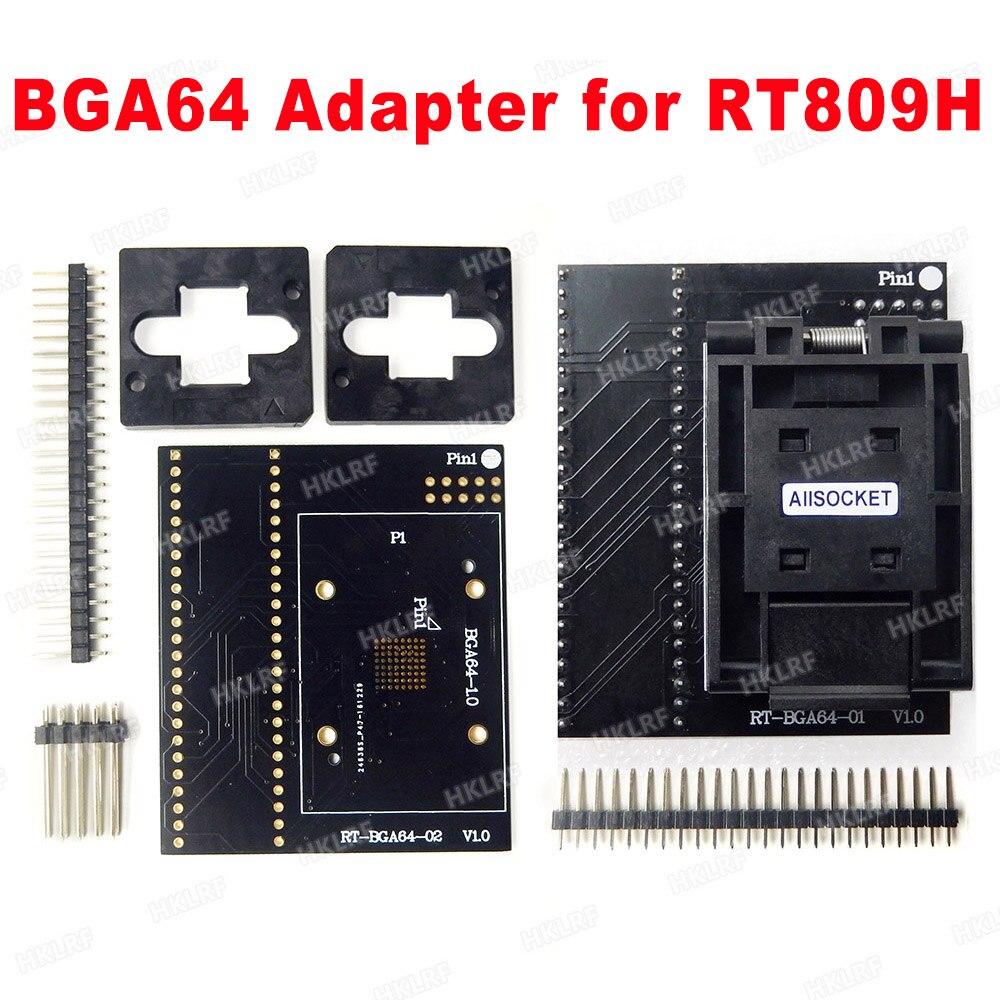 BGA64 EMMC Adapter For RT809H Programmer RT BGA64 01 Socket 1 0mm spacing frame 11 13m