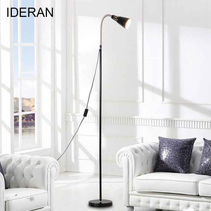 Black White Pink Indoor Floor Lamp Modern Brightness Modern Stand Light for Living Room Sofa Bedside Reading Piano Lamp