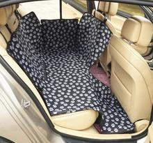 22 OFF Pet Car Mat Printed Paws Black Waterproof Oxford Cloth Pad Dog