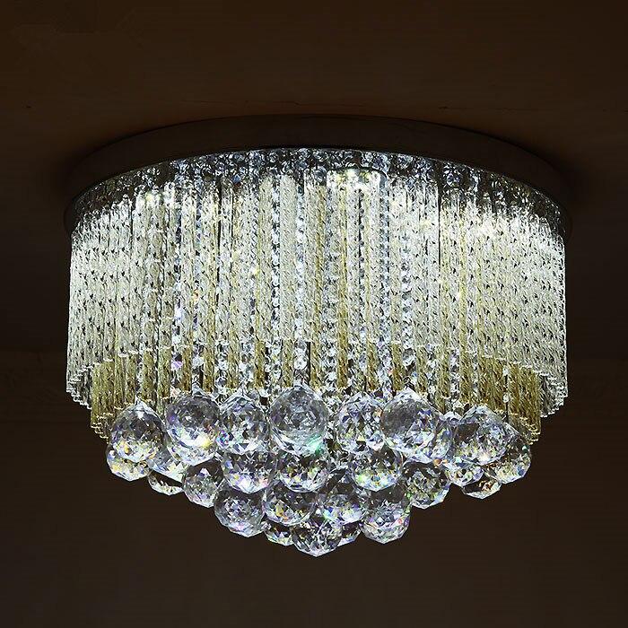 Design di lusso di cristallo lampada da soffitto moderno LED luce di soffitto AC110V 220 V lustro kid camera LED soggiorno luci della stanzaDesign di lusso di cristallo lampada da soffitto moderno LED luce di soffitto AC110V 220 V lustro kid camera LED soggiorno luci della stanza